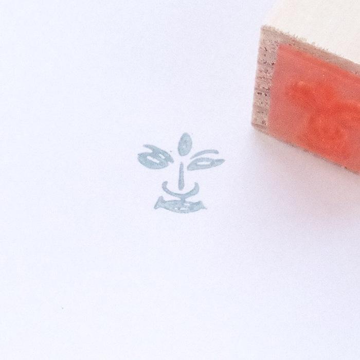 顔出し仏像はんこ-梵天3