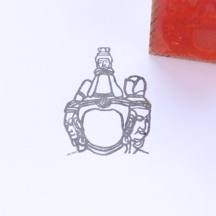 顔出し仏像はんこ-梵天2