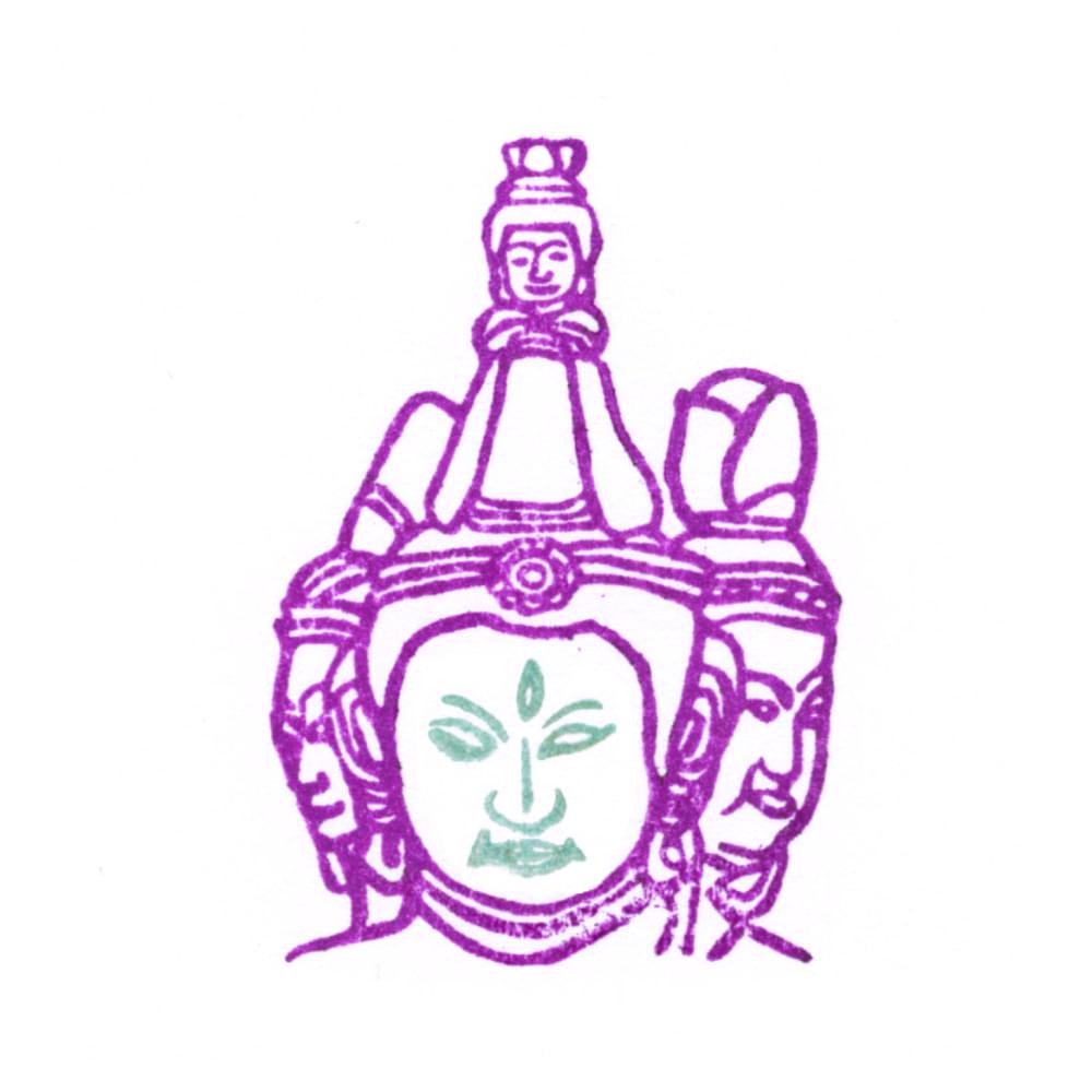 顔出し仏像はんこ-梵天4