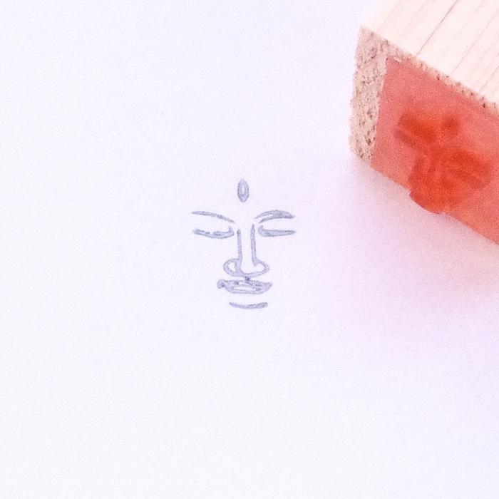 顔出し仏像はんこ-帝釈天3