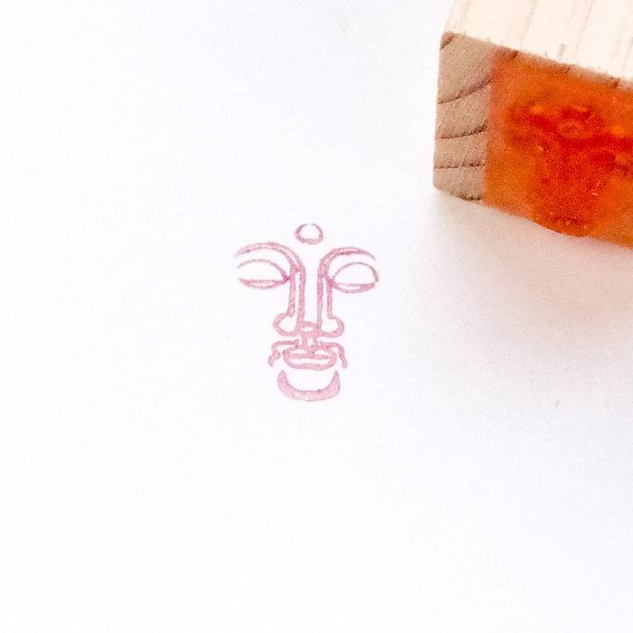 顔出し仏像はんこ-薬師如来3