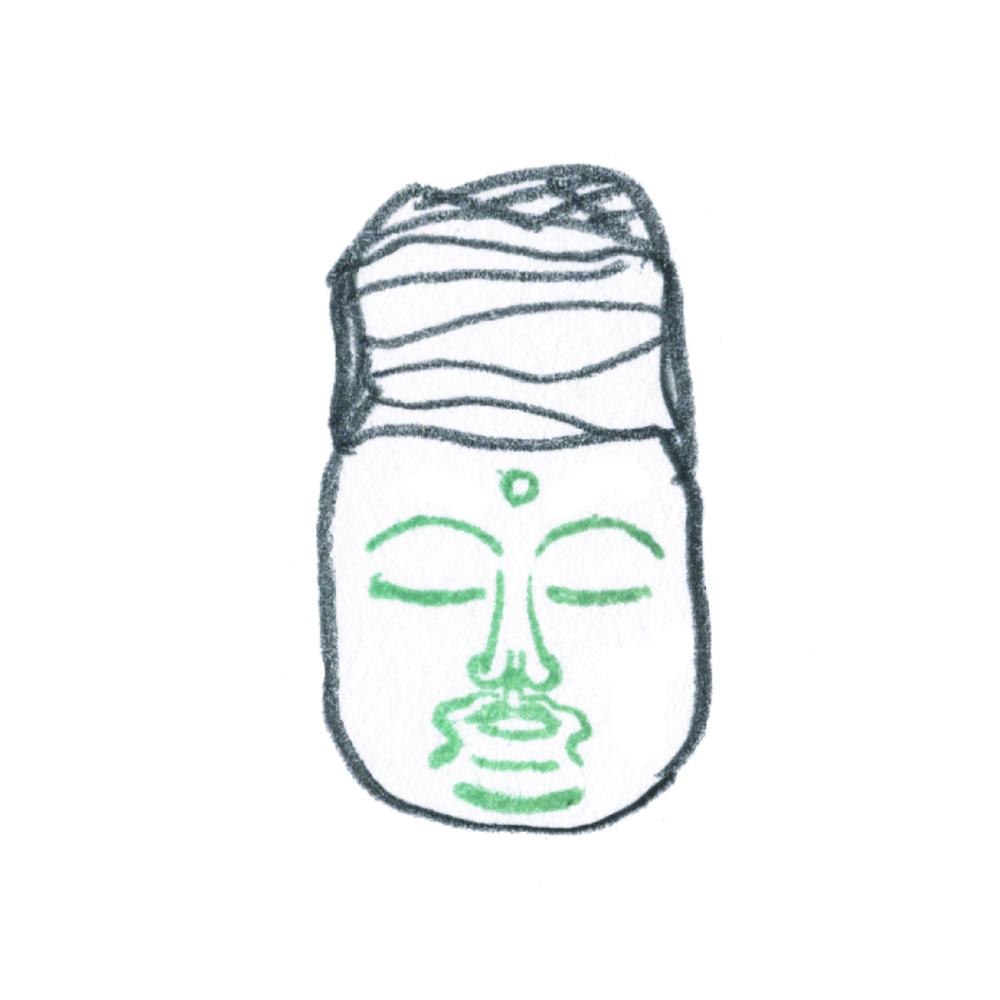 顔出し仏像はんこ-阿弥陀如来6