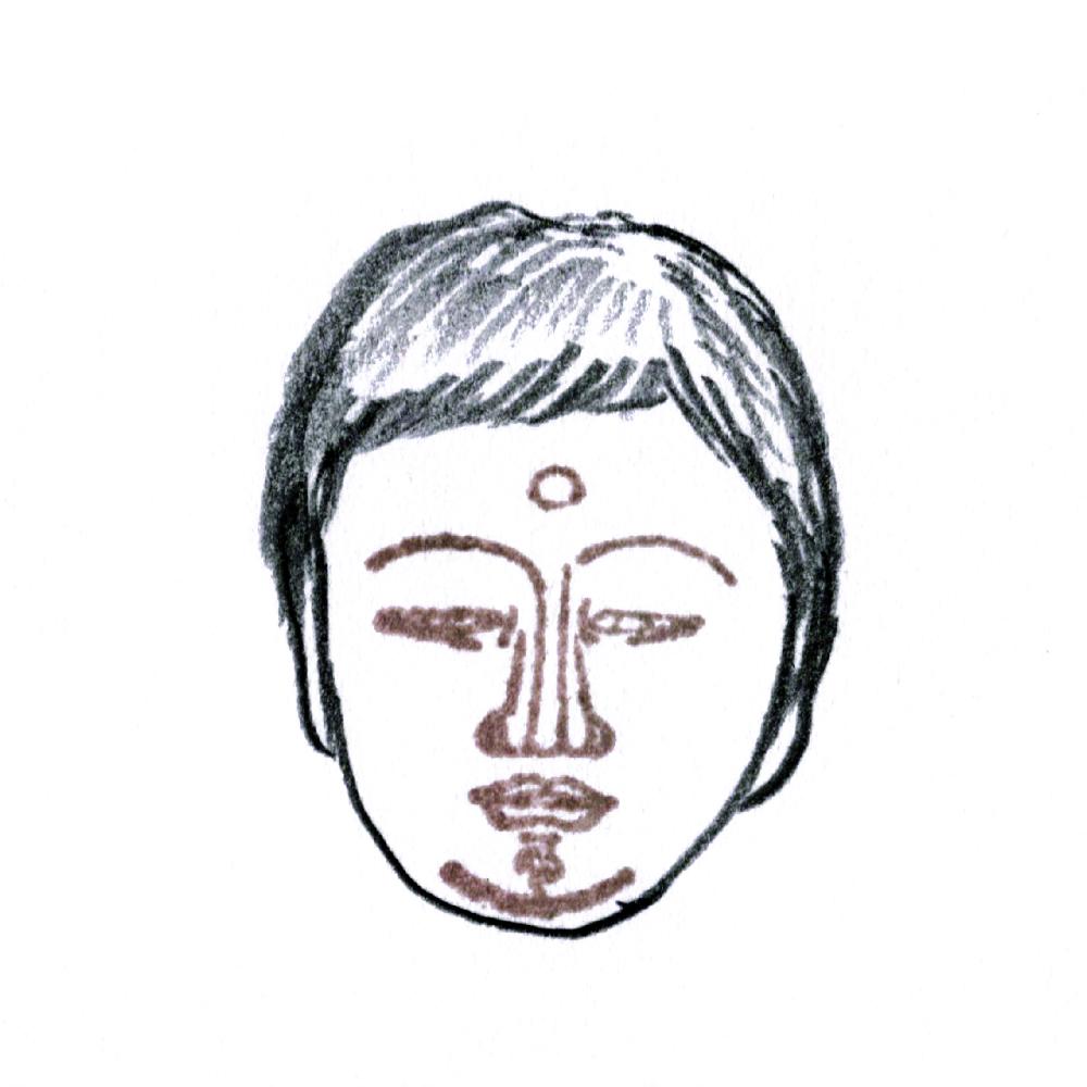 顔出し仏像はんこ-大日如来6