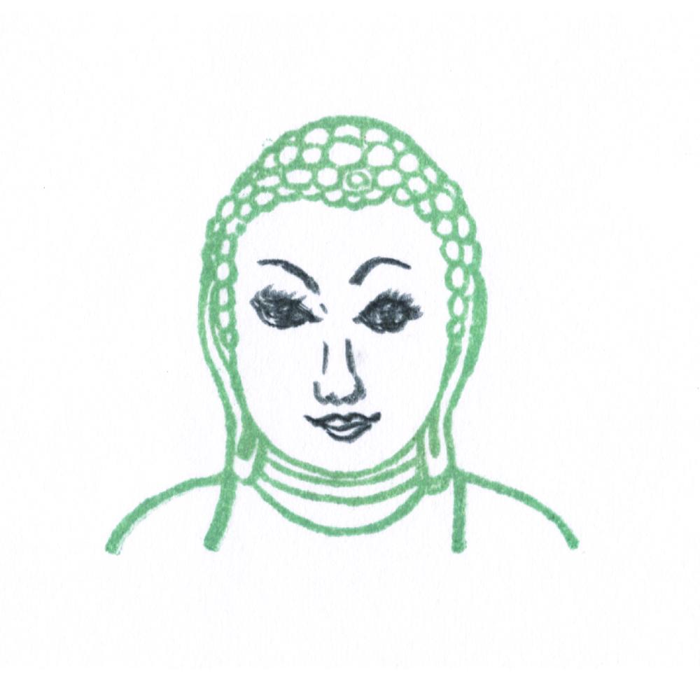 顔出し仏像はんこ-薬師如来5