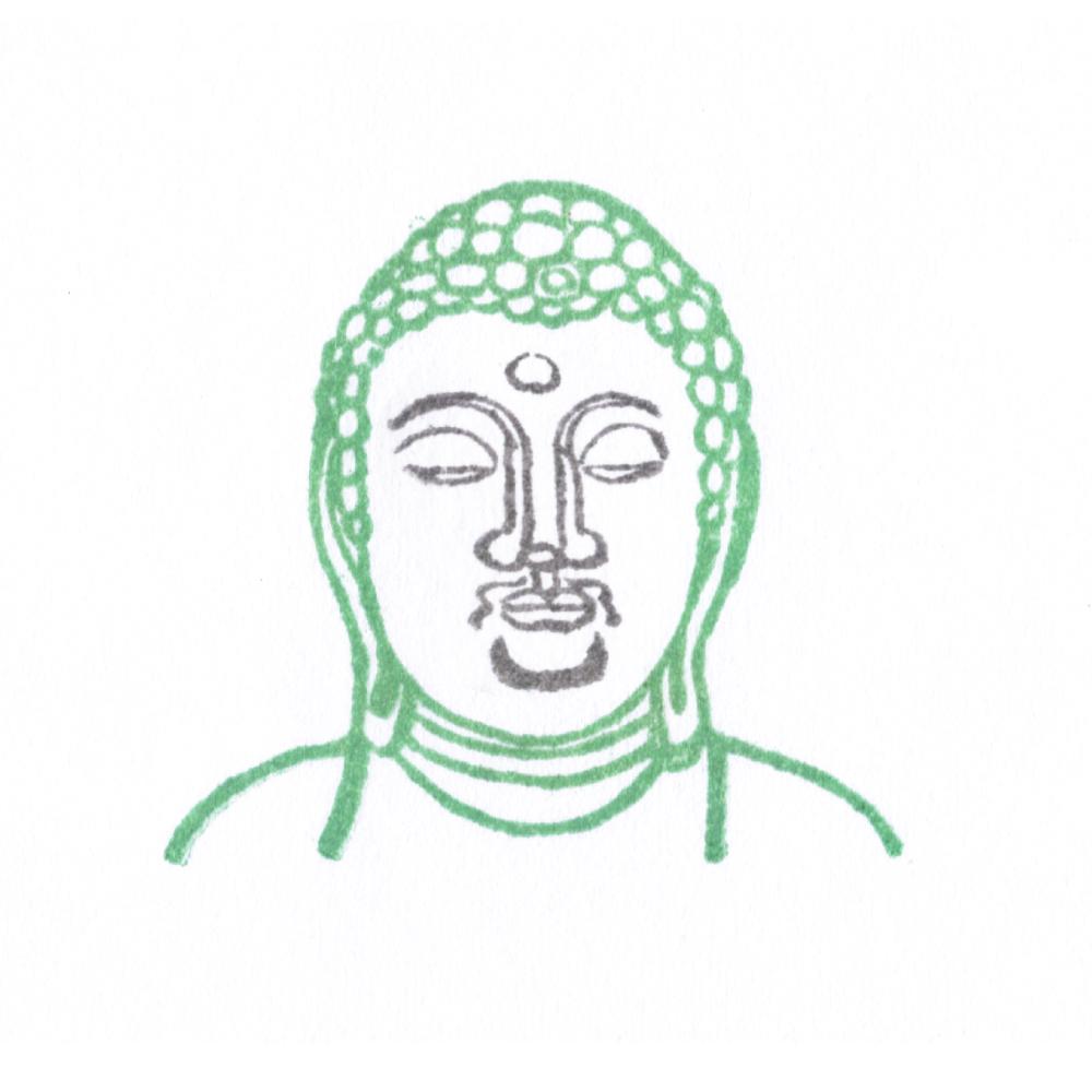 顔出し仏像はんこ-薬師如来4