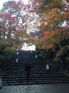 竹林寺への石階段