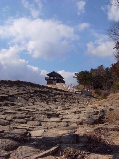 鬼ノ城 敷石