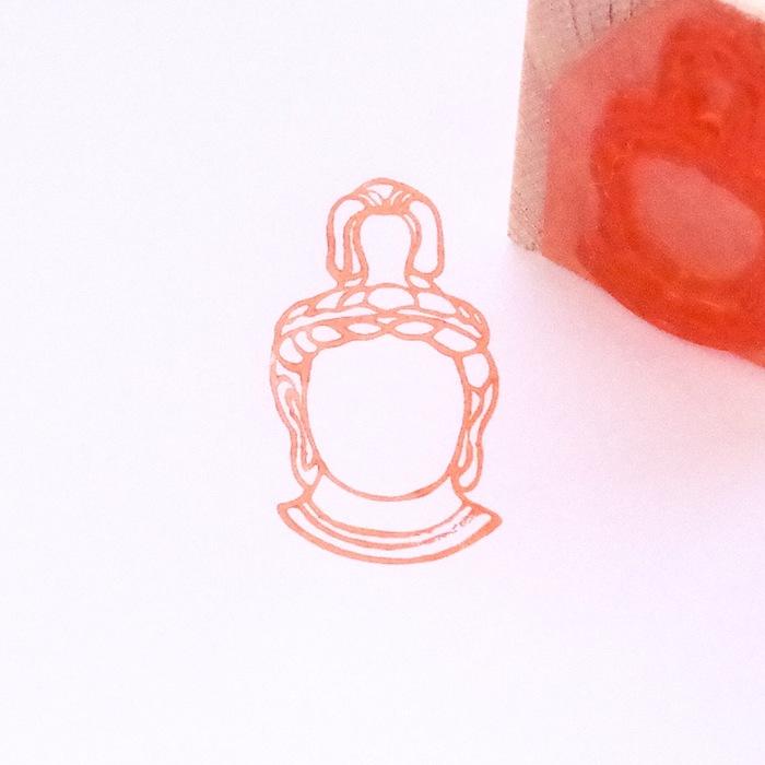 顔出し仏像はんこ-帝釈天2