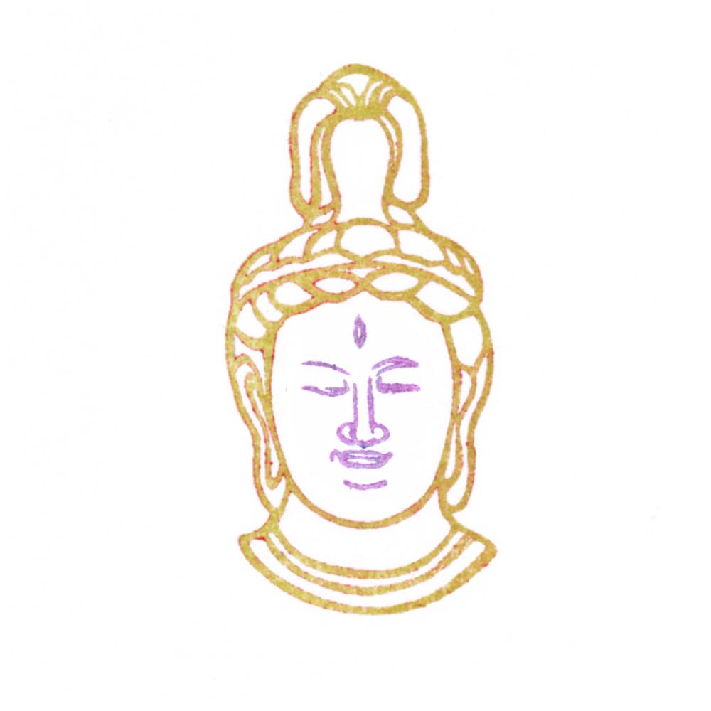 顔出し仏像はんこ-帝釈天4