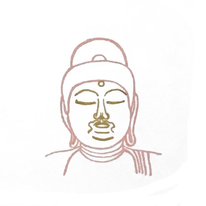 顔出し仏像はんこ-阿弥陀如来4