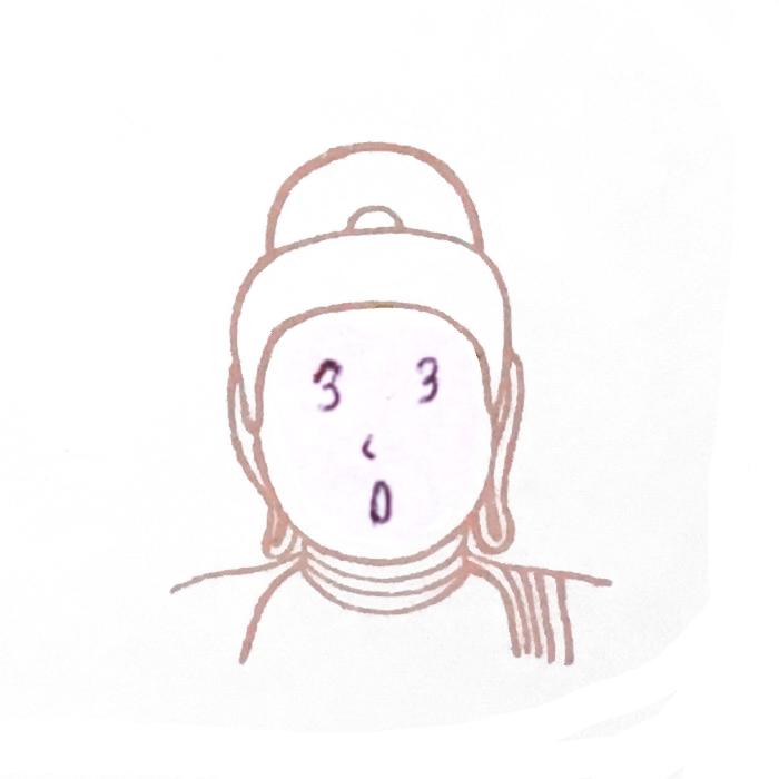 顔出し仏像はんこ-阿弥陀如来5