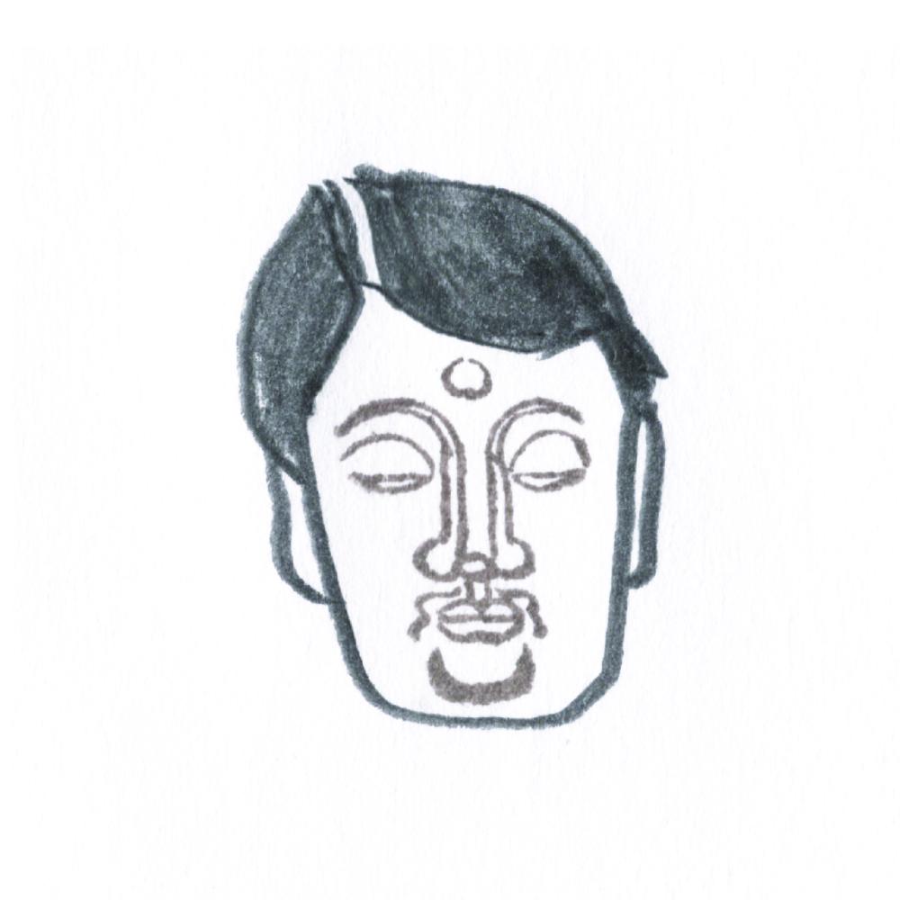 顔出し仏像はんこ-薬師如来6